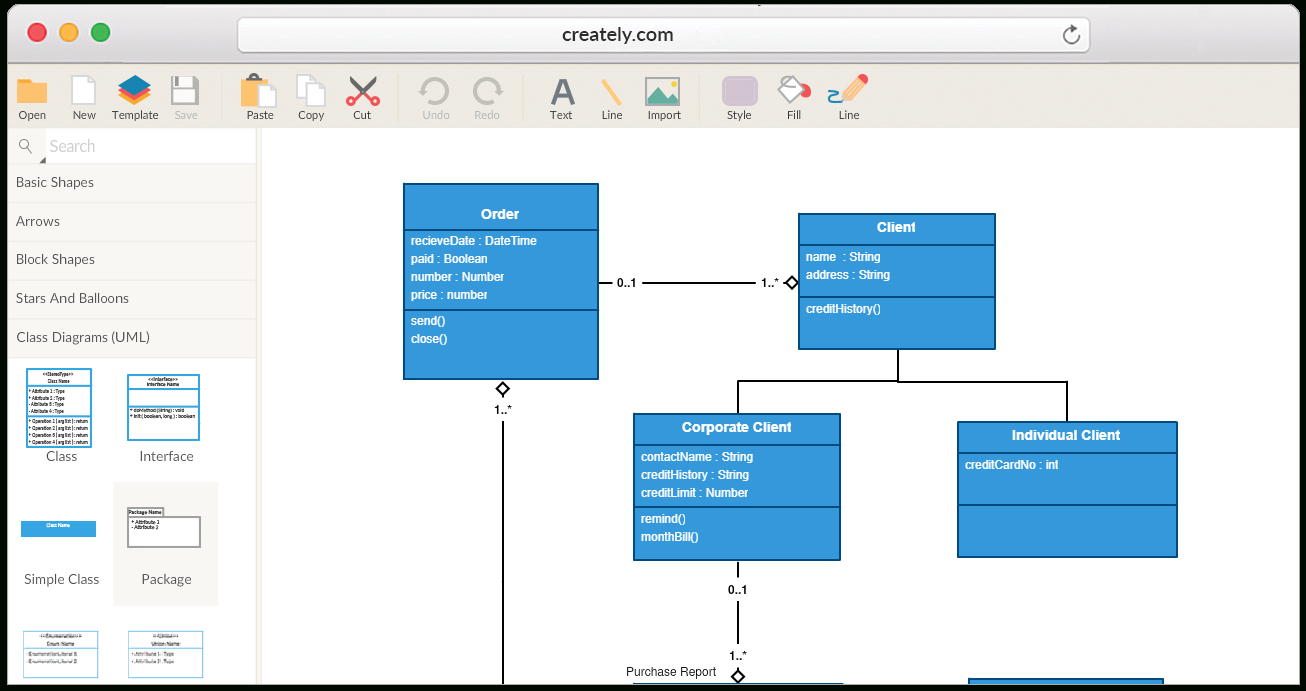 Create Class Diagrams Online With Creately ( Uml ) intended for Er Diagram Examples Creately
