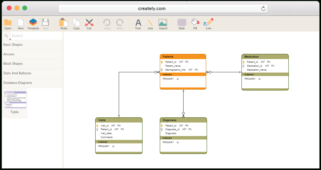 Database Design Tool | Create Database Diagrams Online intended for Er Diagram Examples Creately
