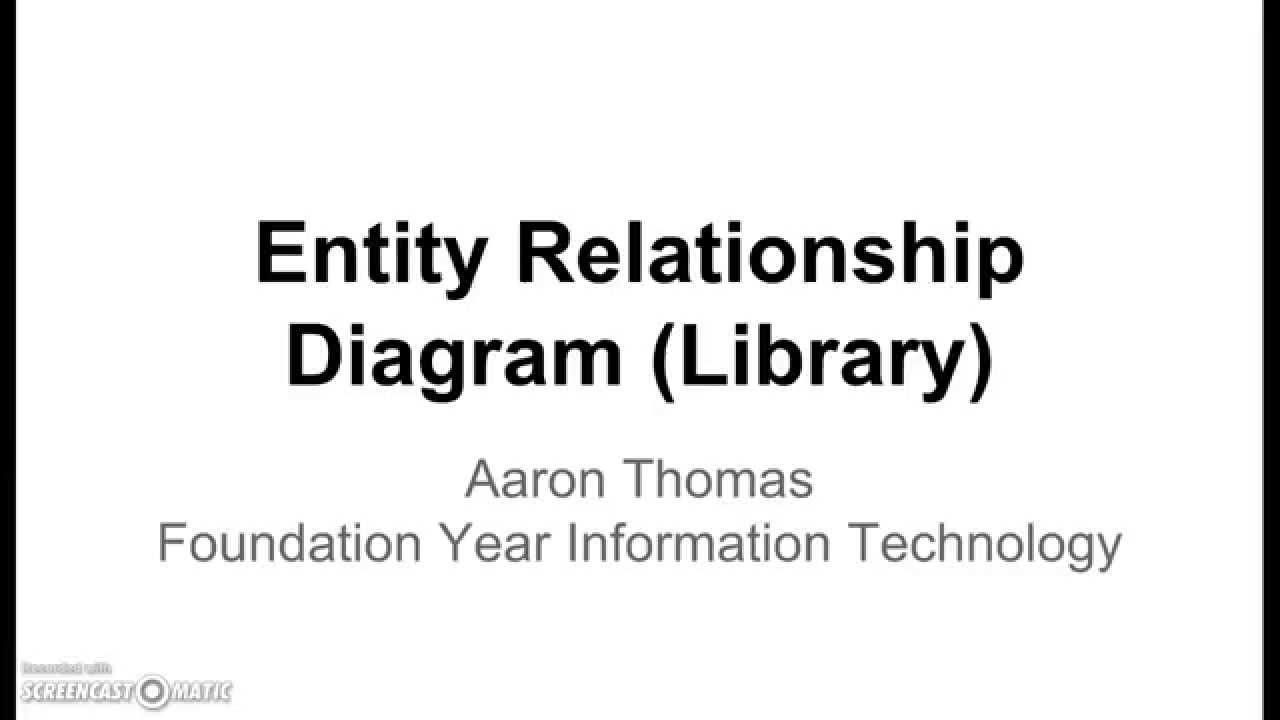 Entity Relationship Diagram (Library) - Youtube regarding Er Diagram Example Youtube