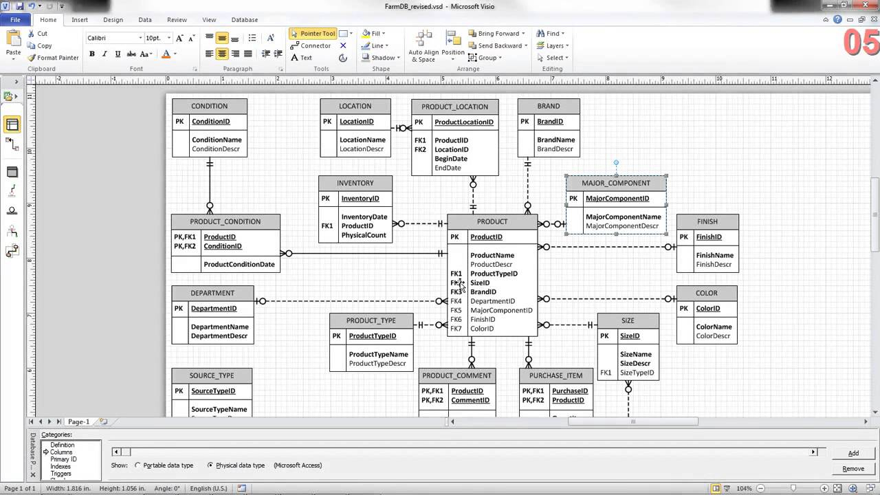 Erd Review Family Farm Inventory Db - Youtube intended for Er Diagram Examples For Inventory Management System