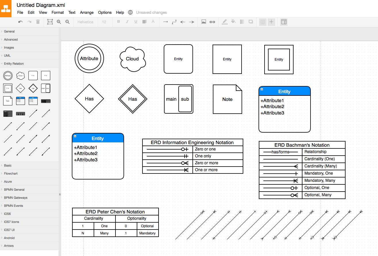 Simple Er Diagram Tool - 8.27.kenmo-Lp.de • with Er Diagram Symbols Examples