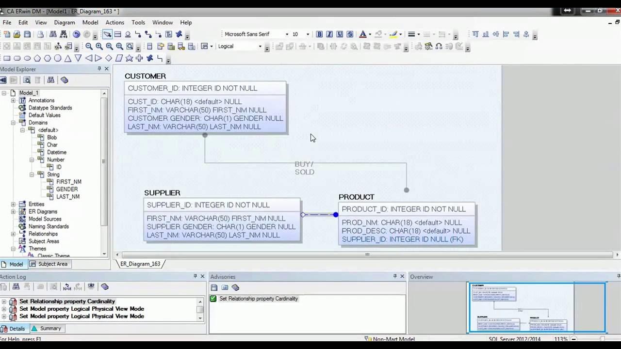 08. Erwin Data Modeler Tool Tutorial - Modeling Notations regarding Erwin Data Modeling Tool