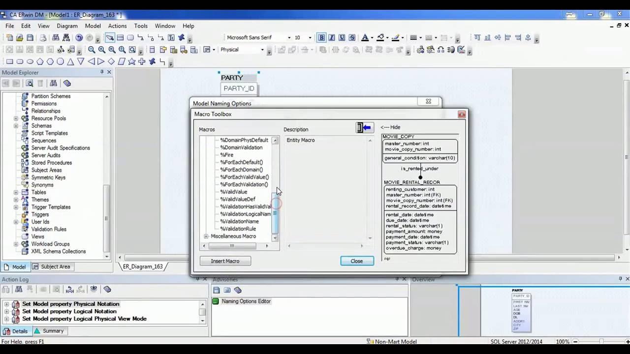 10. Erwin Data Modeler Tool Tutorial - How To Create And Configure Macros inside Erwin Data Modeling Tool
