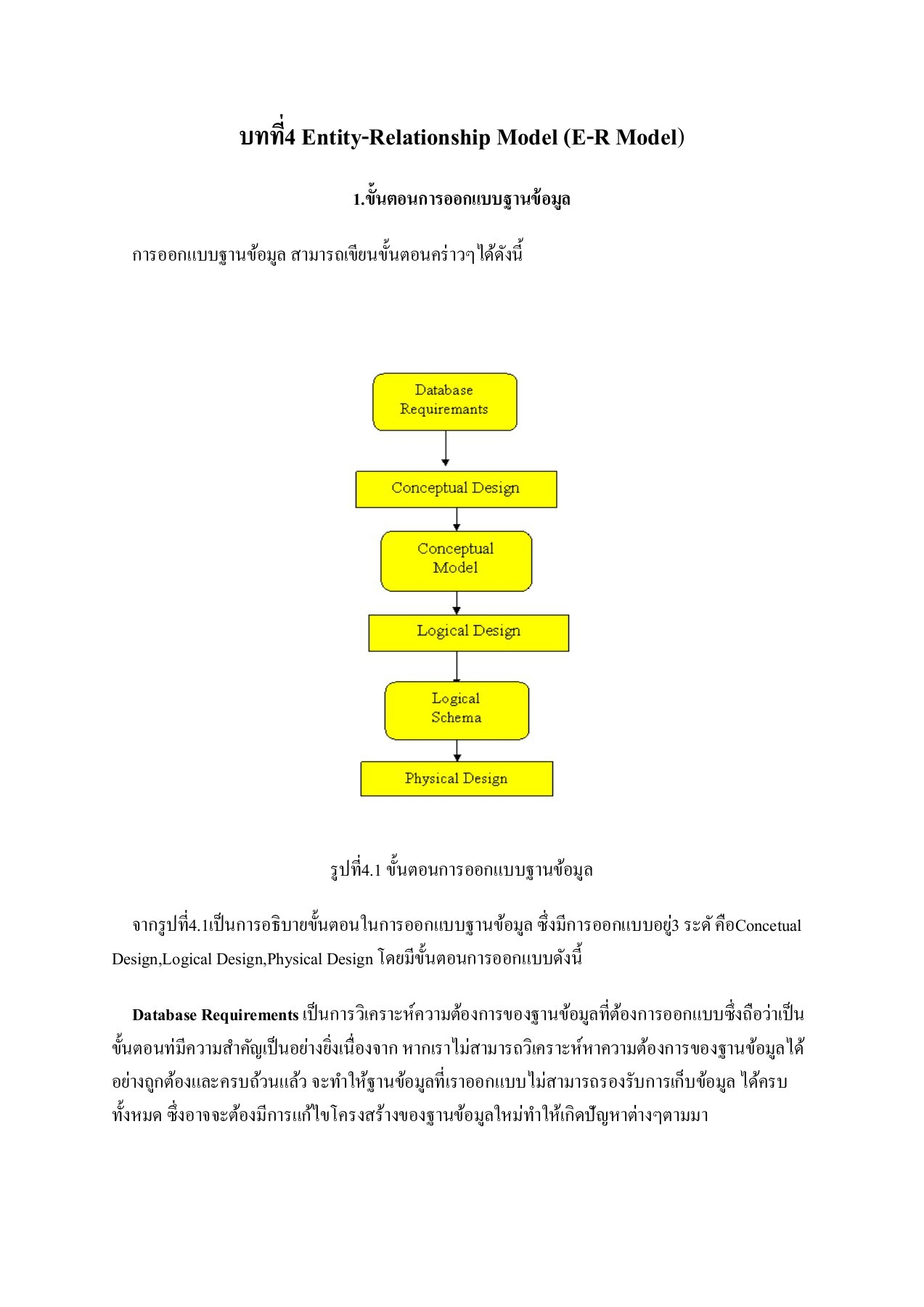 4.entity-Relationship Model (E-R Model) Pages 1 - 19 - Text with บทที่ 4 Er Diagram