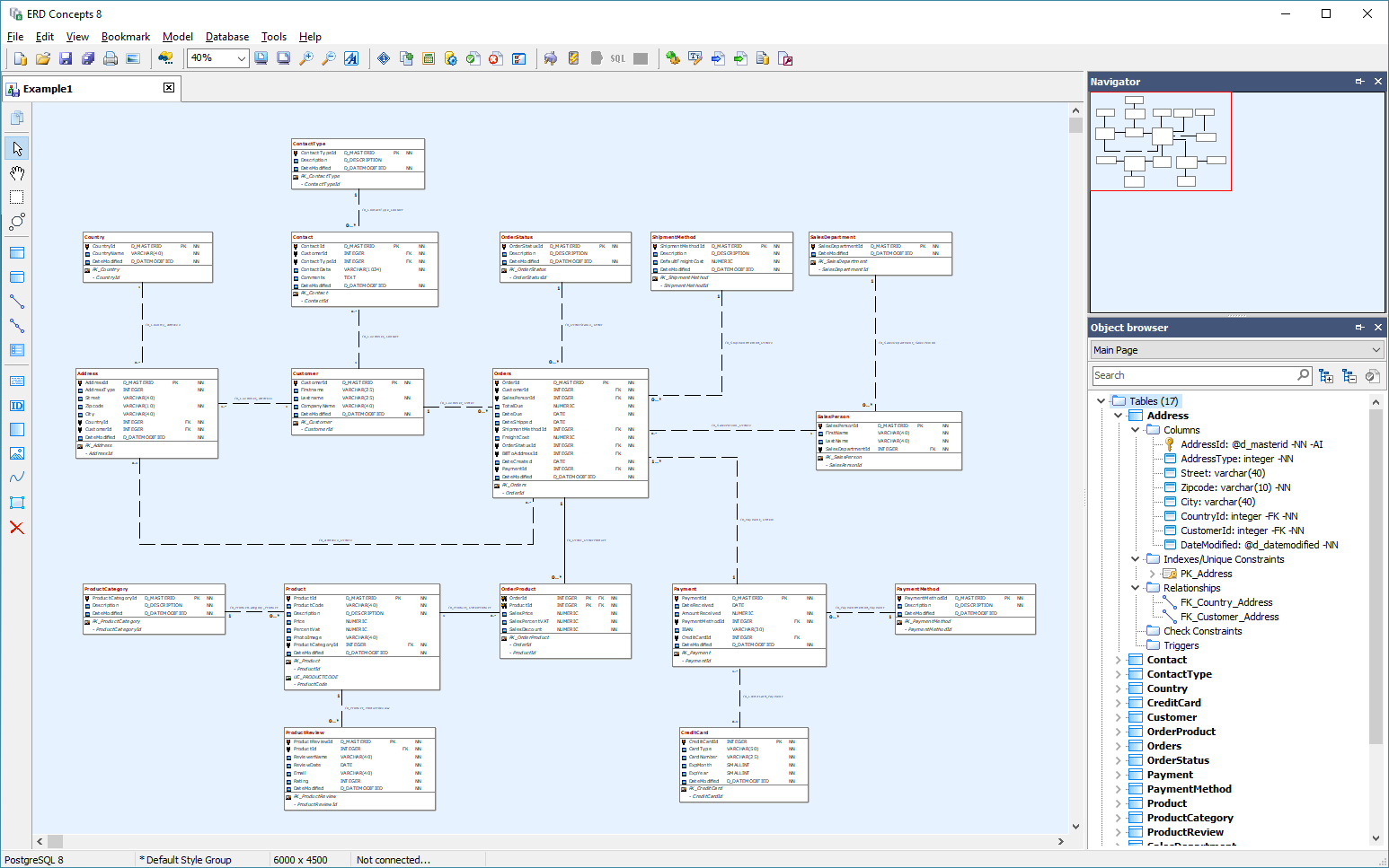 79 Data Modeling Tools Compared - Database Star with regard to Er Diagram Ax 2012