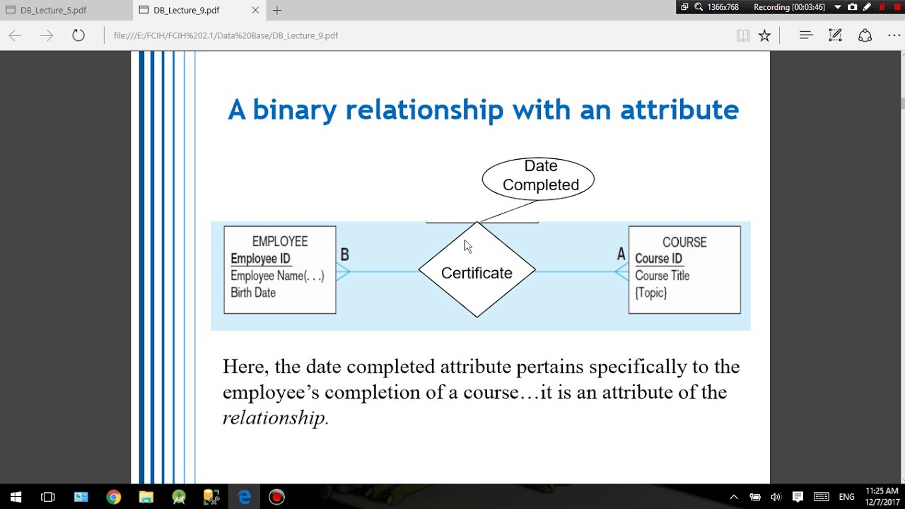 Associative Entities intended for Er Diagram Associative Entity Example