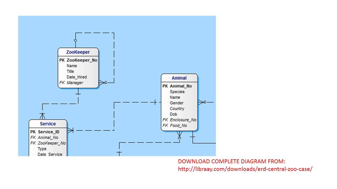 Central Zoo Erd Solution within Er Diagram For Zoo Management System