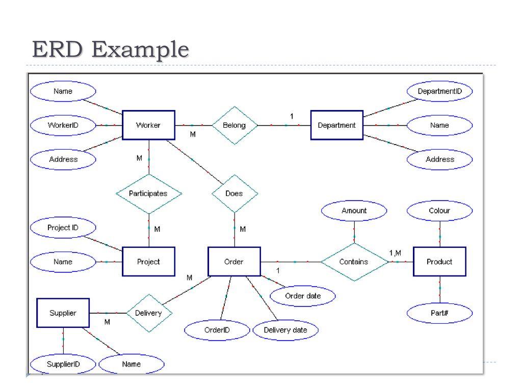 Chapter -2- Data Modeling Using The Entity-Relationship regarding Erd شرح