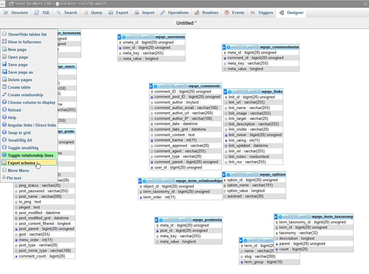 Create A Database Diagram In Phpmyadmin | Inmotion Hosting throughout Er Diagram Phpmyadmin