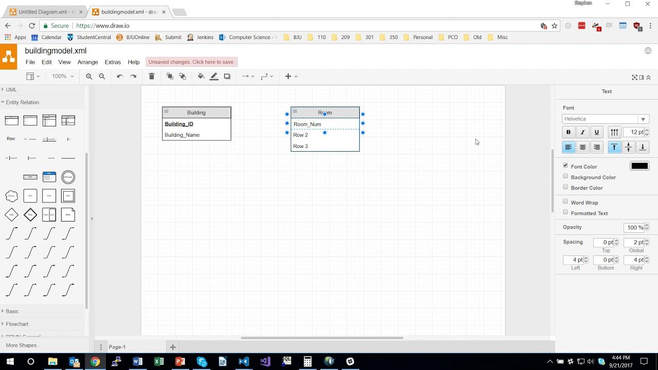 Creating Database Models Using Draw.io regarding Er Diagram Draw.io