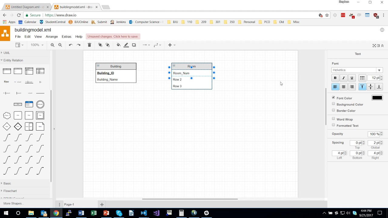 Creating Database Models Using Draw.io throughout How To Draw Database Schema