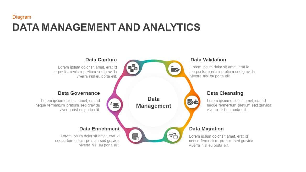 Data Management And Analytics Template For Powerpoint & Keynote inside Data Management Diagram