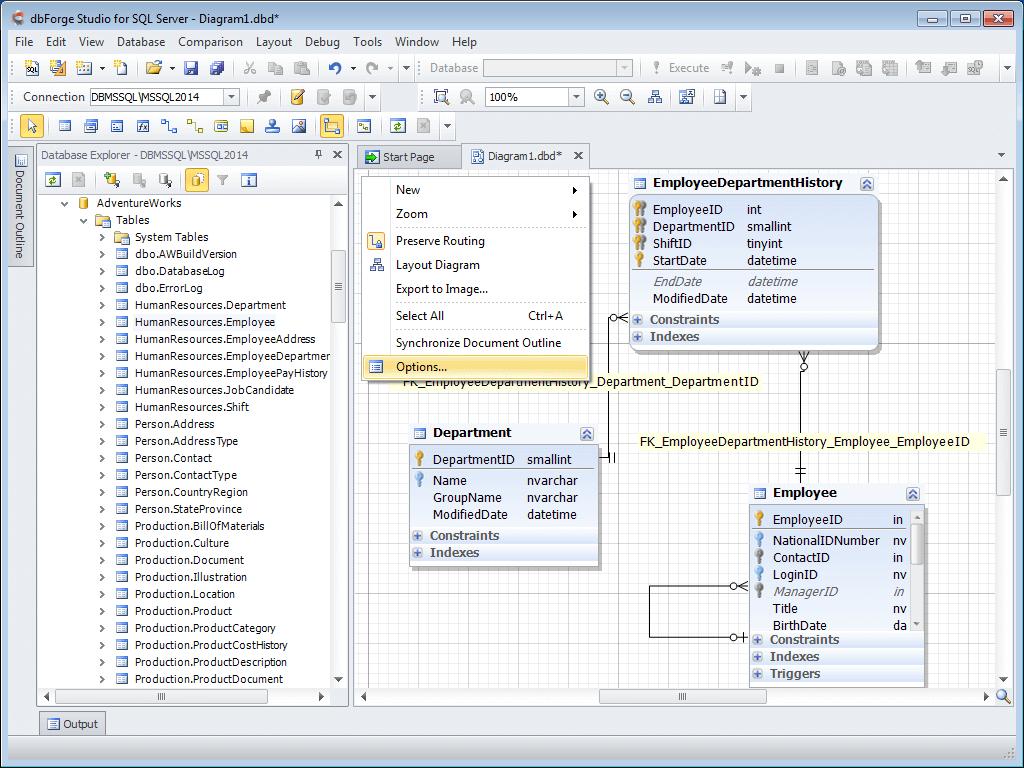 Database Diagram Tool For Sql Server within Sql Erd Diagram Tool