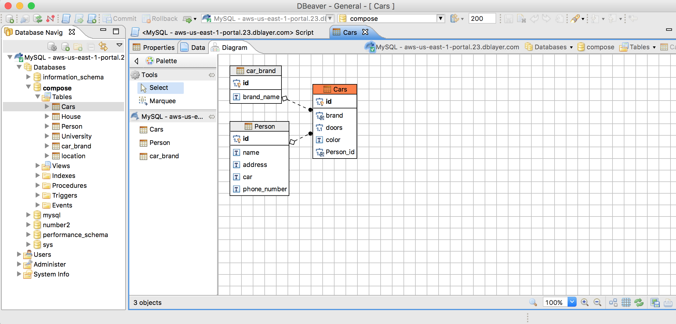 Database Management Tools And Compose For Mysql - Compose within Er Diagram Dbeaver