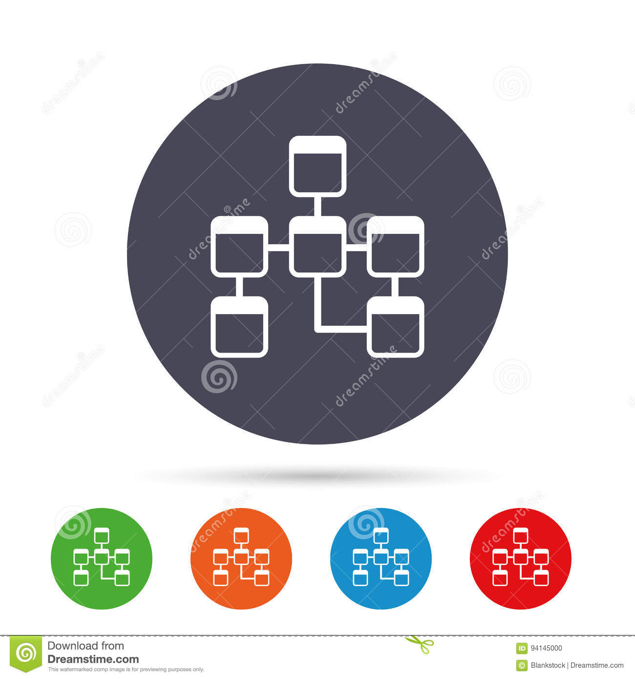 Database Sign Icon. Relational Database Schema. Stock Vector regarding Relational Database Symbols