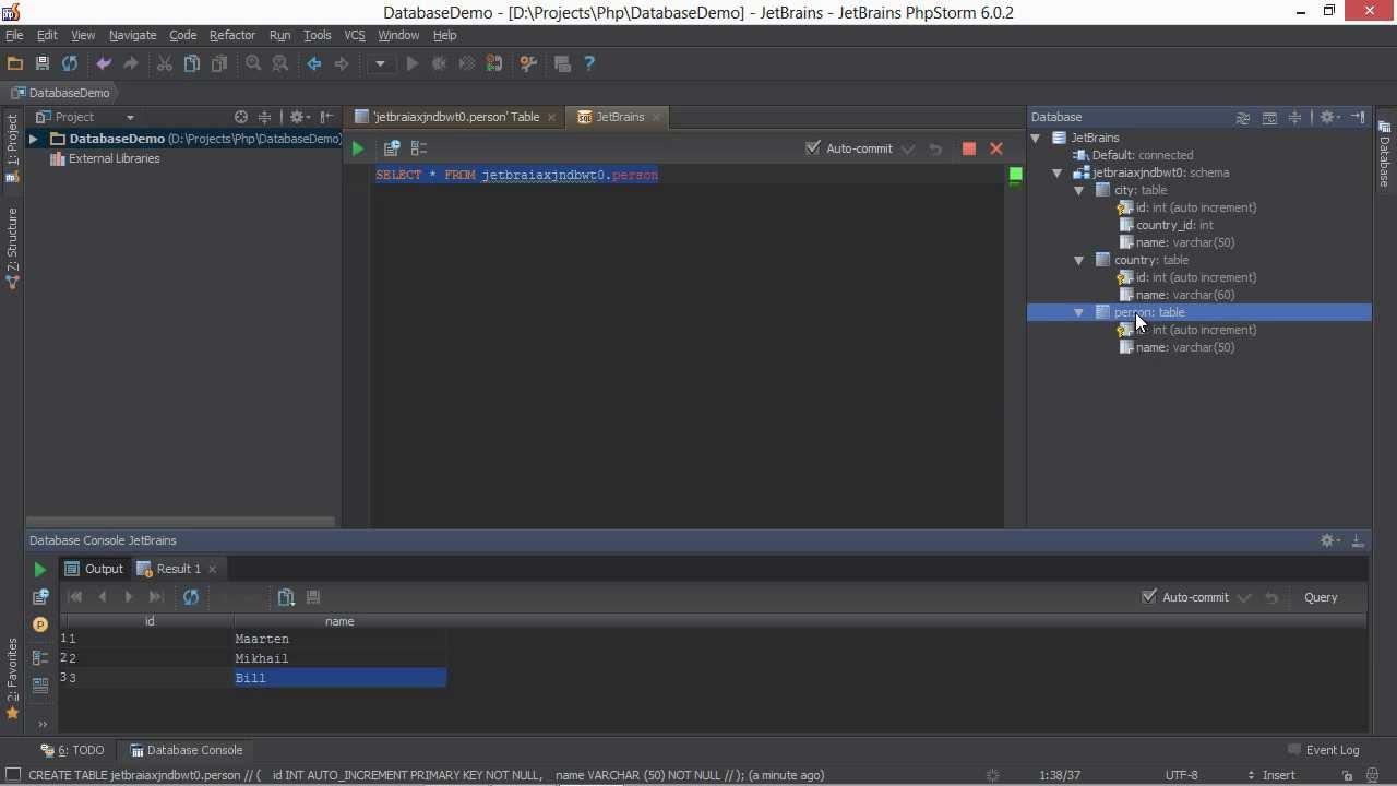 Databases And Sql Editor In Phpstorm - Phpstorm Video Tutorial for Er Diagram Datagrip