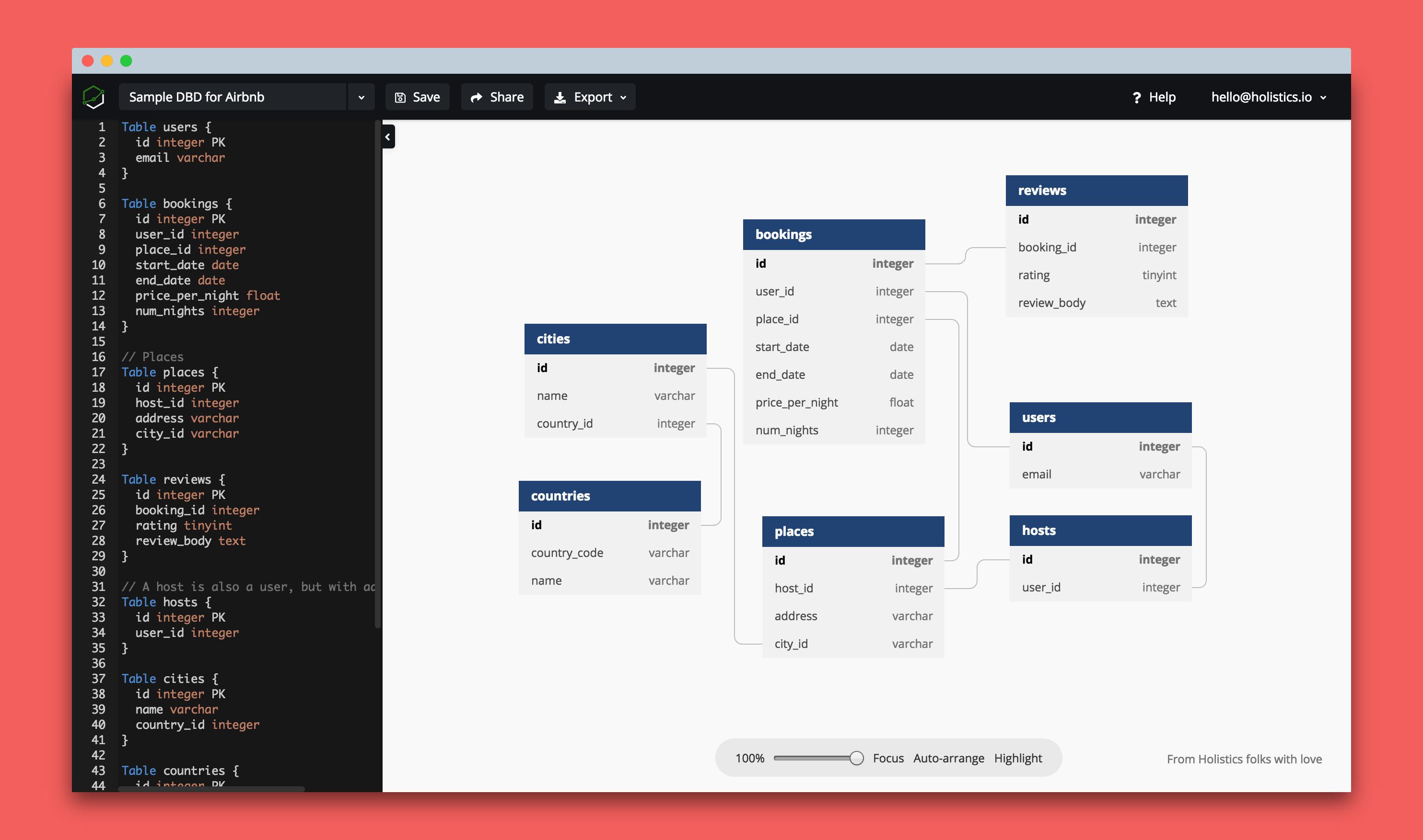 Dbdiagram.io - Database Relationship Diagrams Design Tool with Database Schema Diagram Design Tool
