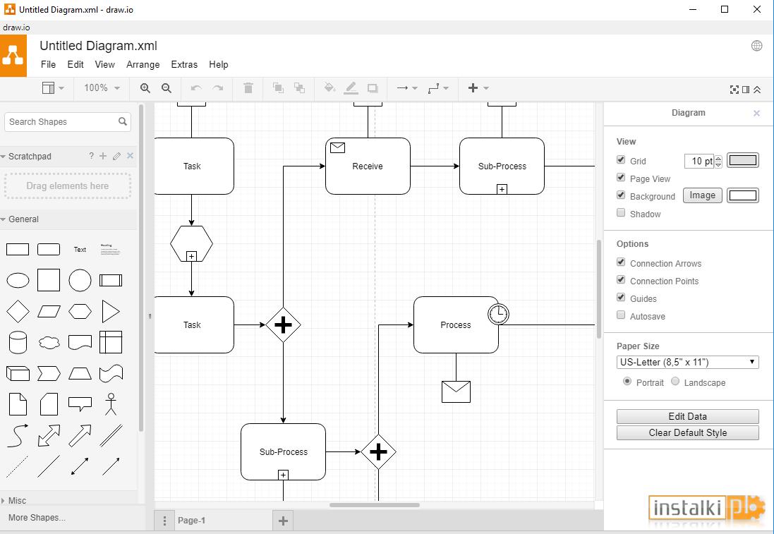 Draw.io Desktop 8.5.0 - Download - Instalki.pl for Er Diagram Draw.io