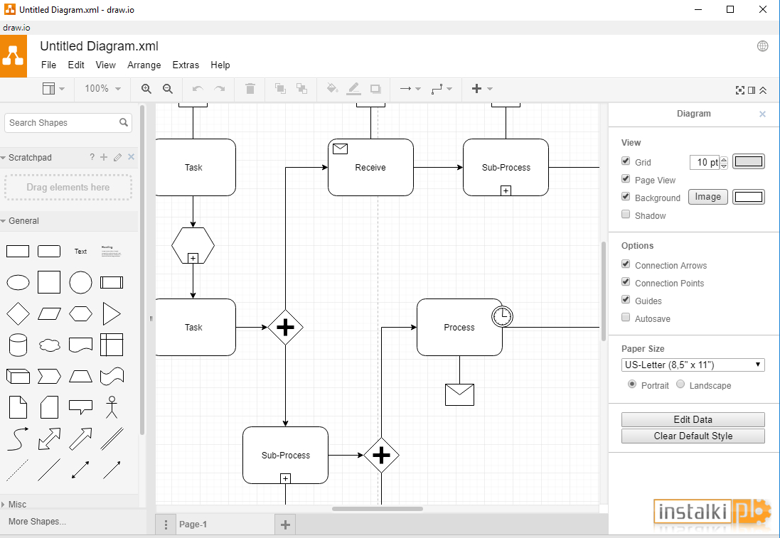 Draw.io Desktop 8.5.0 - Download - Instalki.pl with regard to Er Diagram In Draw.io