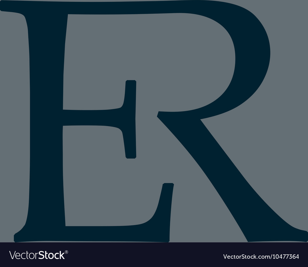 E-R Monogram Logo for Er Symbol