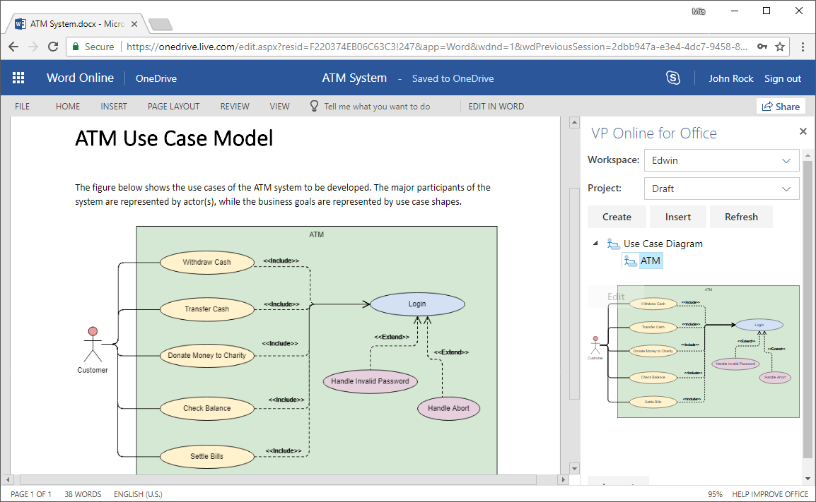 Embed Diagrams In Ms Office 365: How-To? for Er Diagram In Word