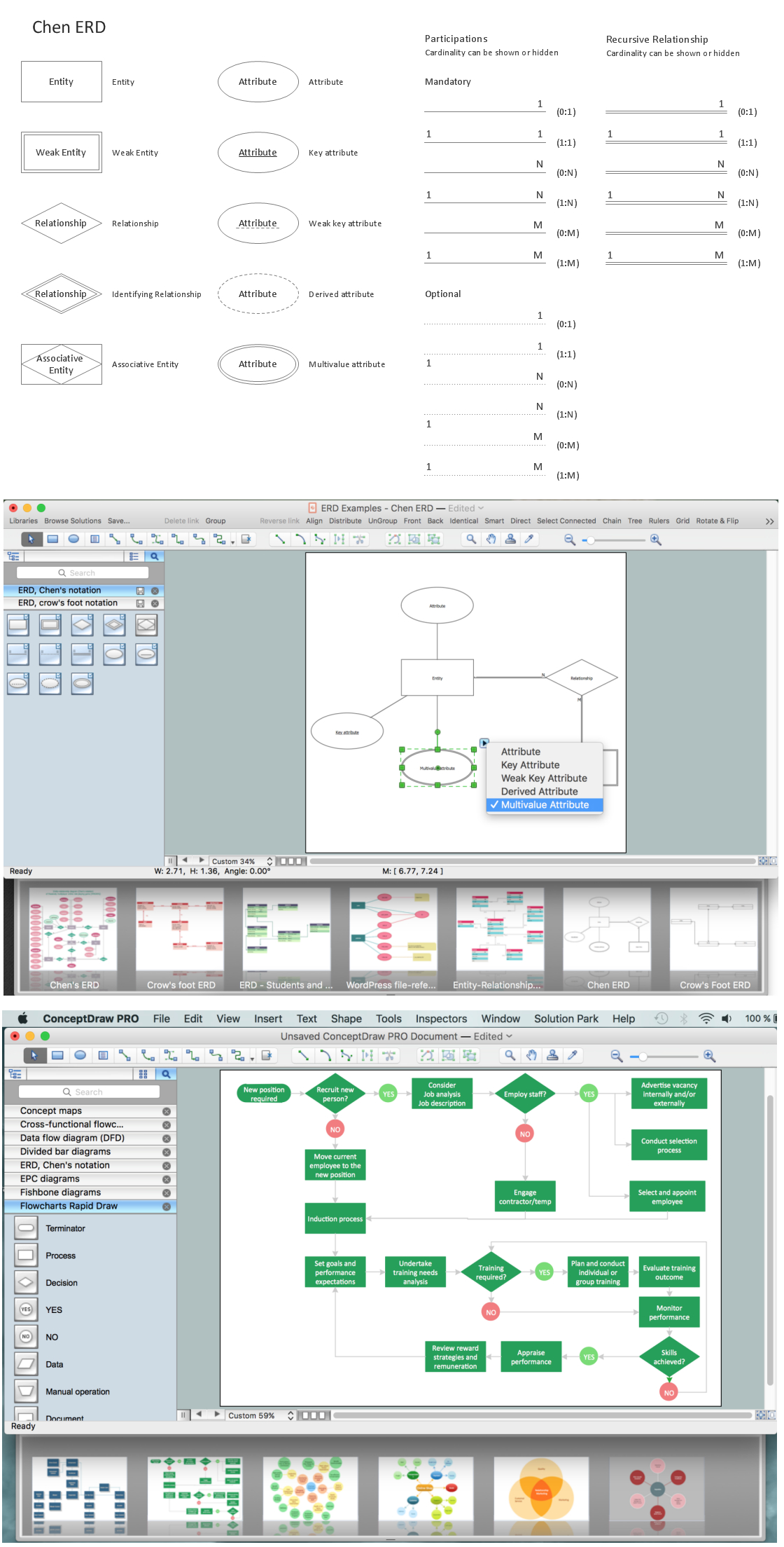 Entity Relationship Diagram | Design Element — Chen for M In Er Diagram