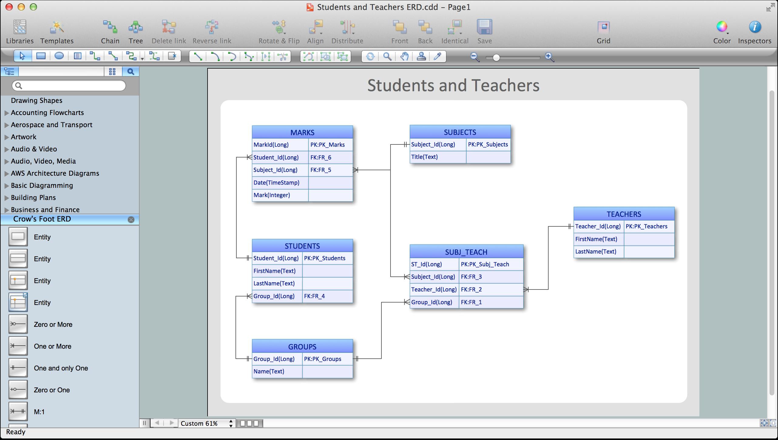 Entity-Relationship Diagram (Erd) With Conceptdraw Diagram inside Er Diagram Maker Online