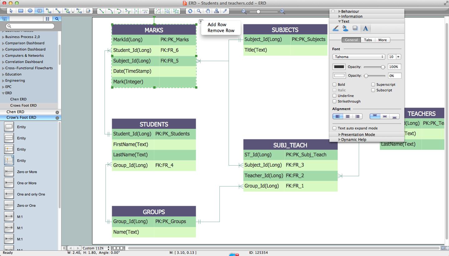 Entity-Relationship Diagram (Erd) With Conceptdraw Diagram throughout Erd Creator