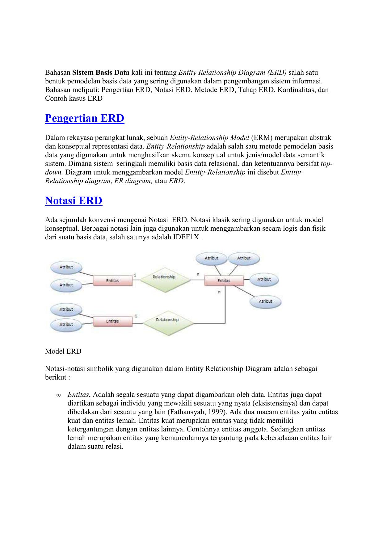 Entity Relationship Diagram inside Simbol Er Diagram Yg Berbentuk Elips