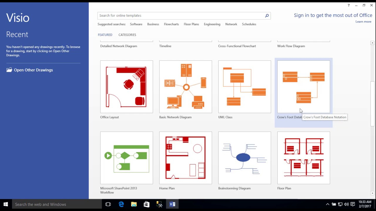 Entity-Relationship Diagram Model With Visio for Er Diagram Tool Visio