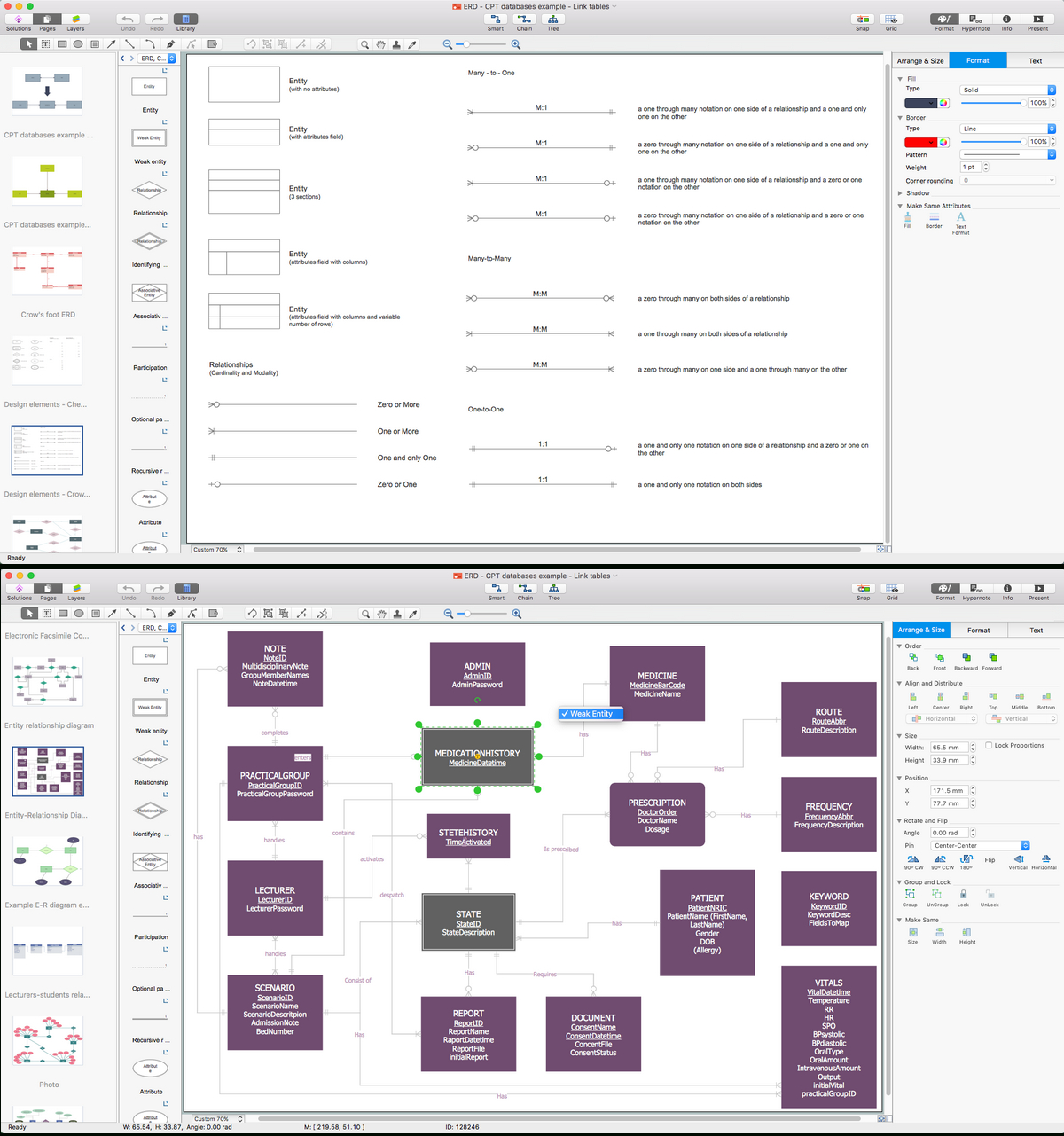 Entity Relationship Diagram Software For Mac | Drawing Er throughout Entity Relationship Software
