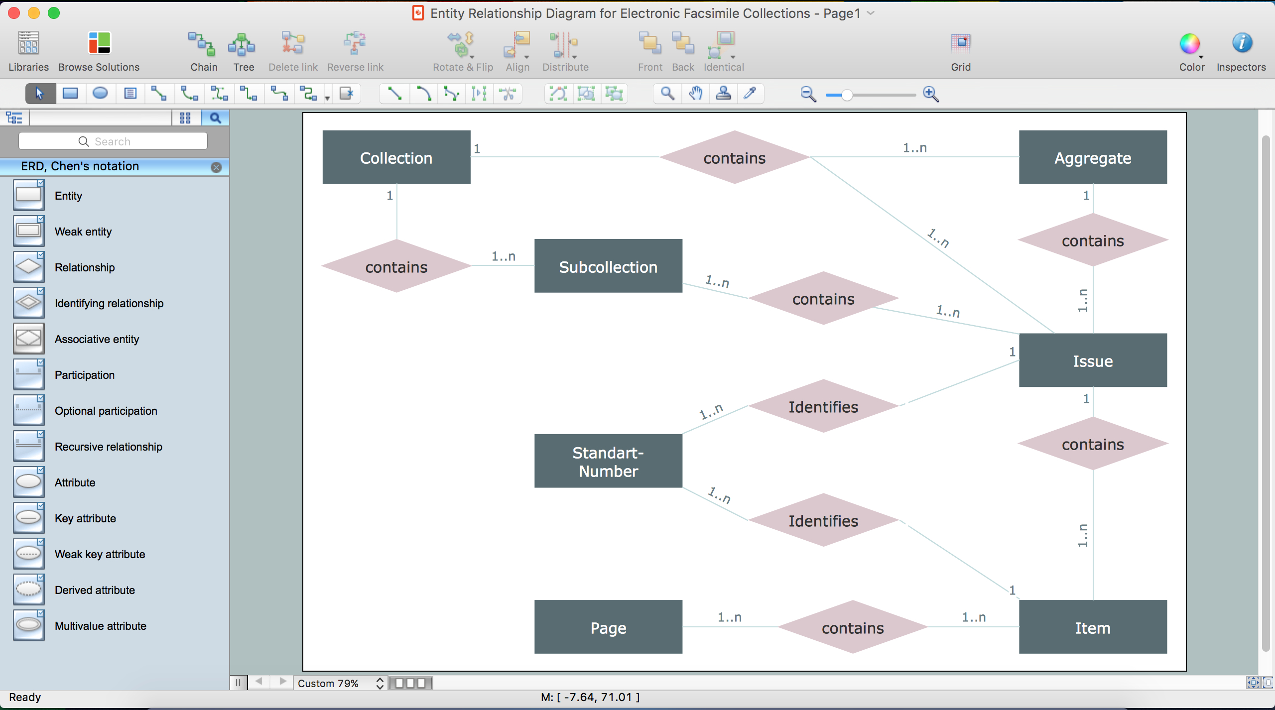 Entity Relationship Diagram Symbols | Conceptdraw Diagram Er in Er Diagram In Word 2010