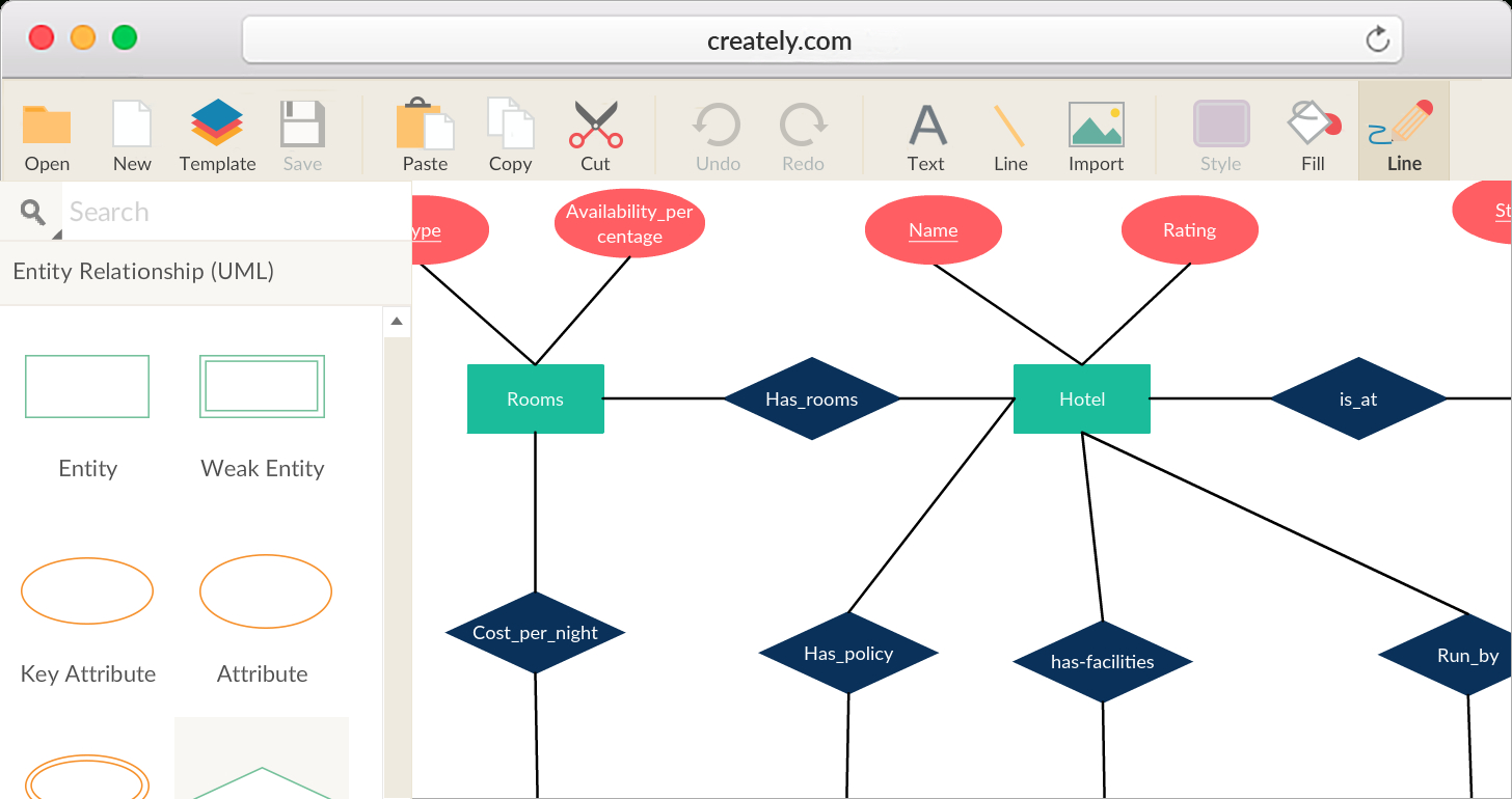 Entity Relationship Diagram Tool With Real-Time for How To Create An Entity Relationship Diagram In Access