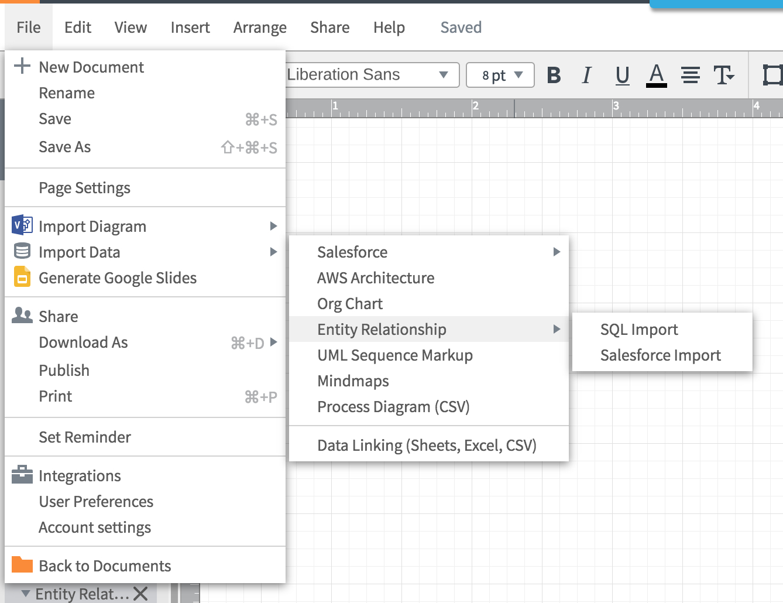 Entity Relationship Diagrams (Erds) – Lucidchart regarding Er Diagram Excel