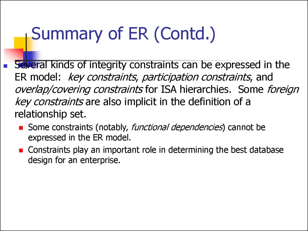 Entity Relationship Model. (Lecture 1) - Online Presentation pertaining to Er Diagram With Aggregation