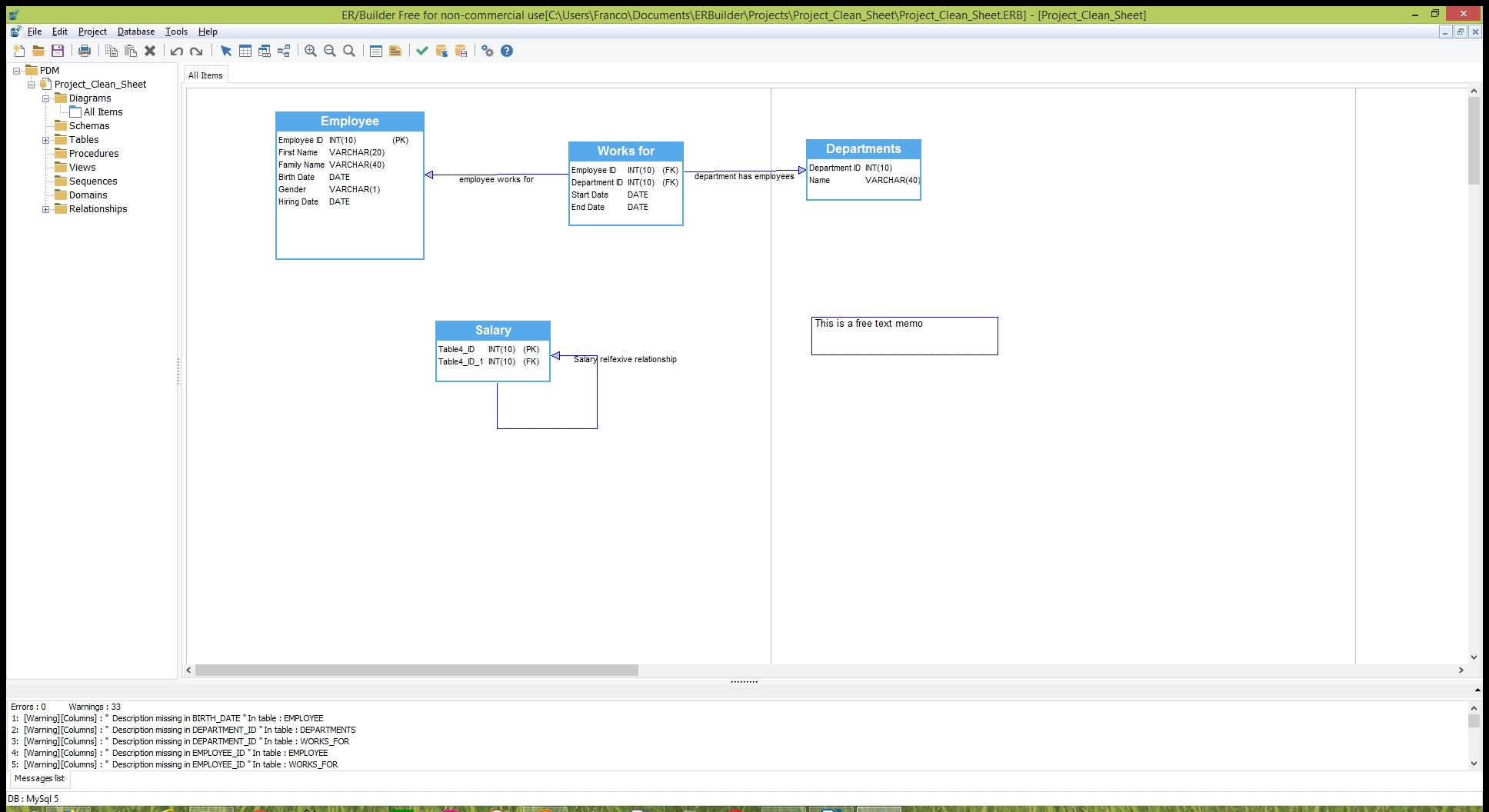 Er/builder - Free Database Modeling & Schema Generation in Er Diagram Generator Free