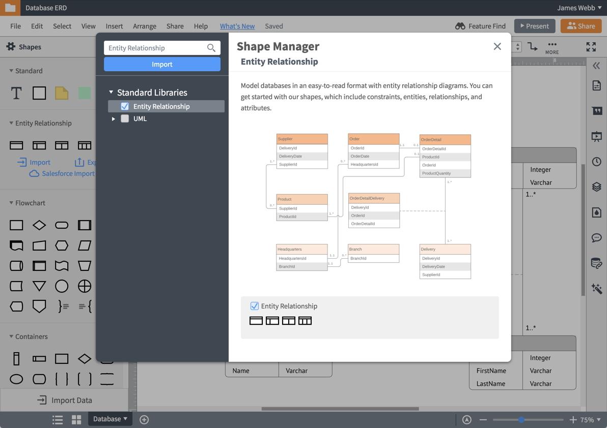 Er Diagram (Erd) Tool   Lucidchart intended for Er Diagram Maker Free
