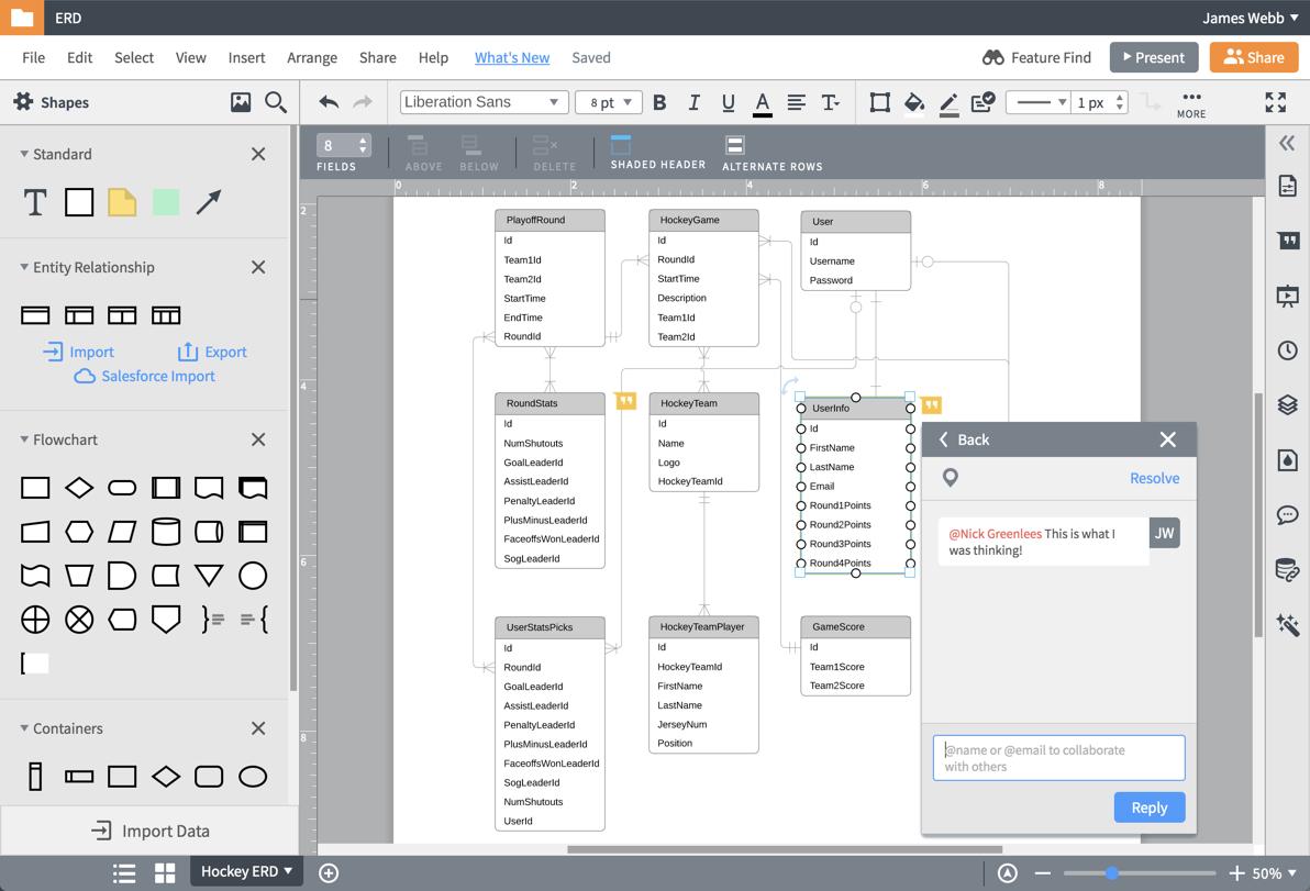 Er Diagram (Erd) Tool | Lucidchart pertaining to Er Diagram Google Draw