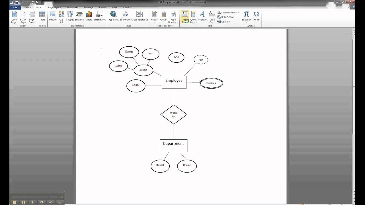 Er Diagram In Ms Word Part 8 - Illustrating Cardinality for Er Diagram In Word