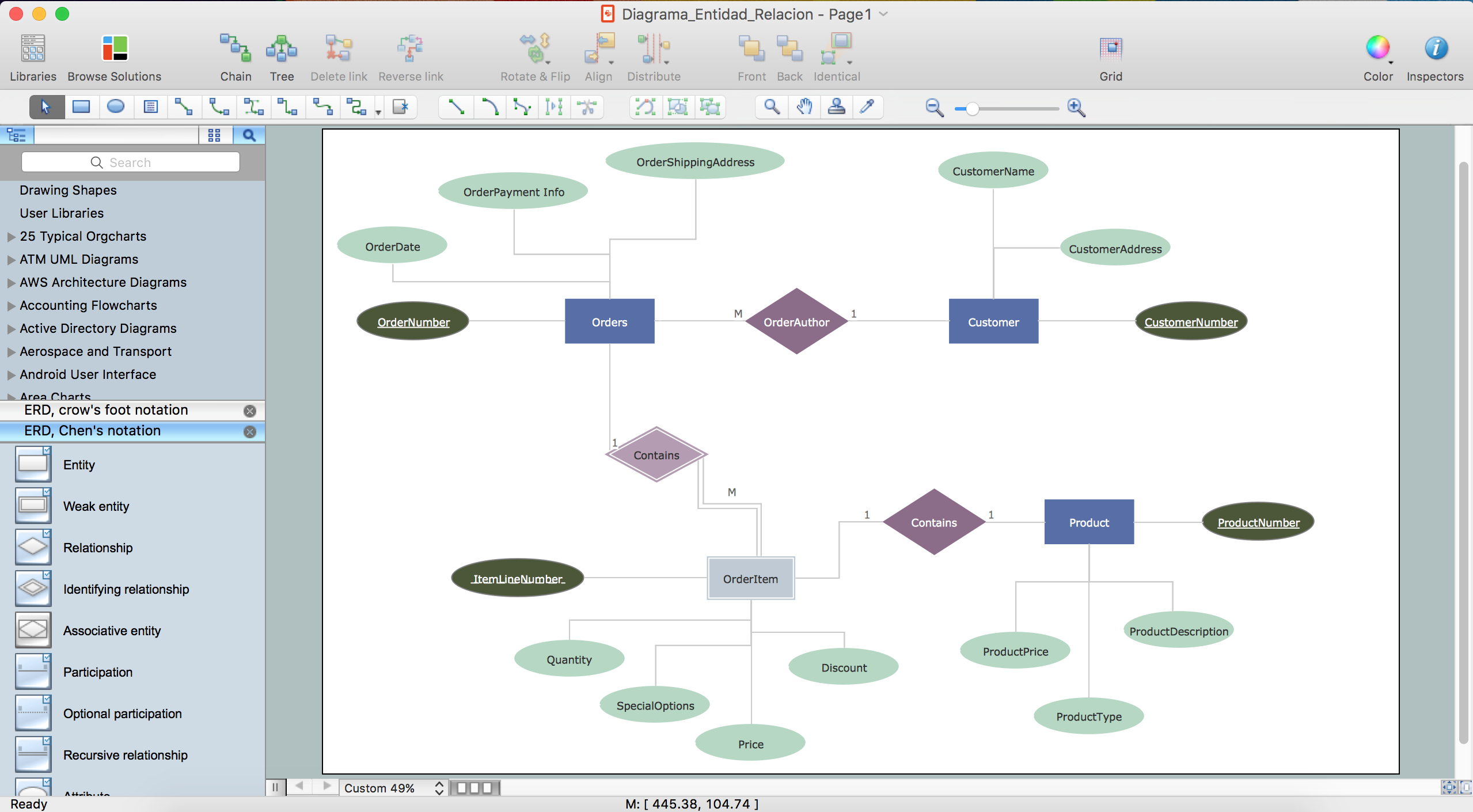 Er Diagram Tool For Os X | Professional Erd Drawing in Example Of Erd Diagram For Database