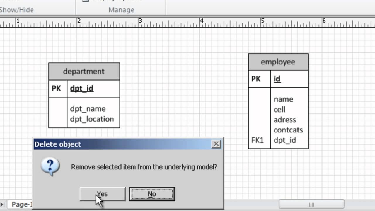 Er Diagram Using Ms Visio 10 Part_2 with Er Diagram Using Visio