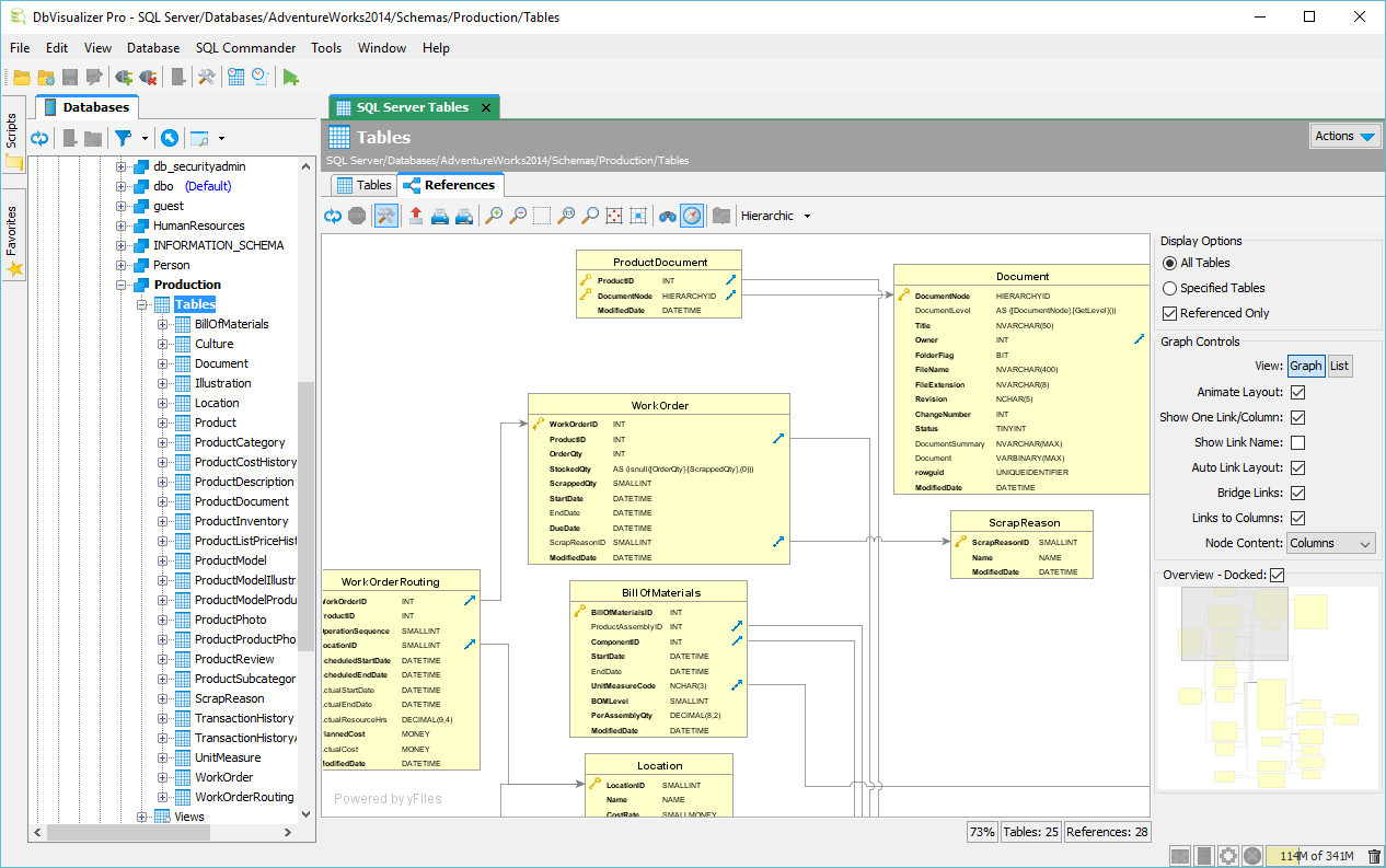 Er Diagrams / Graphs - Dbvisualizer with Er Diagram Ubuntu