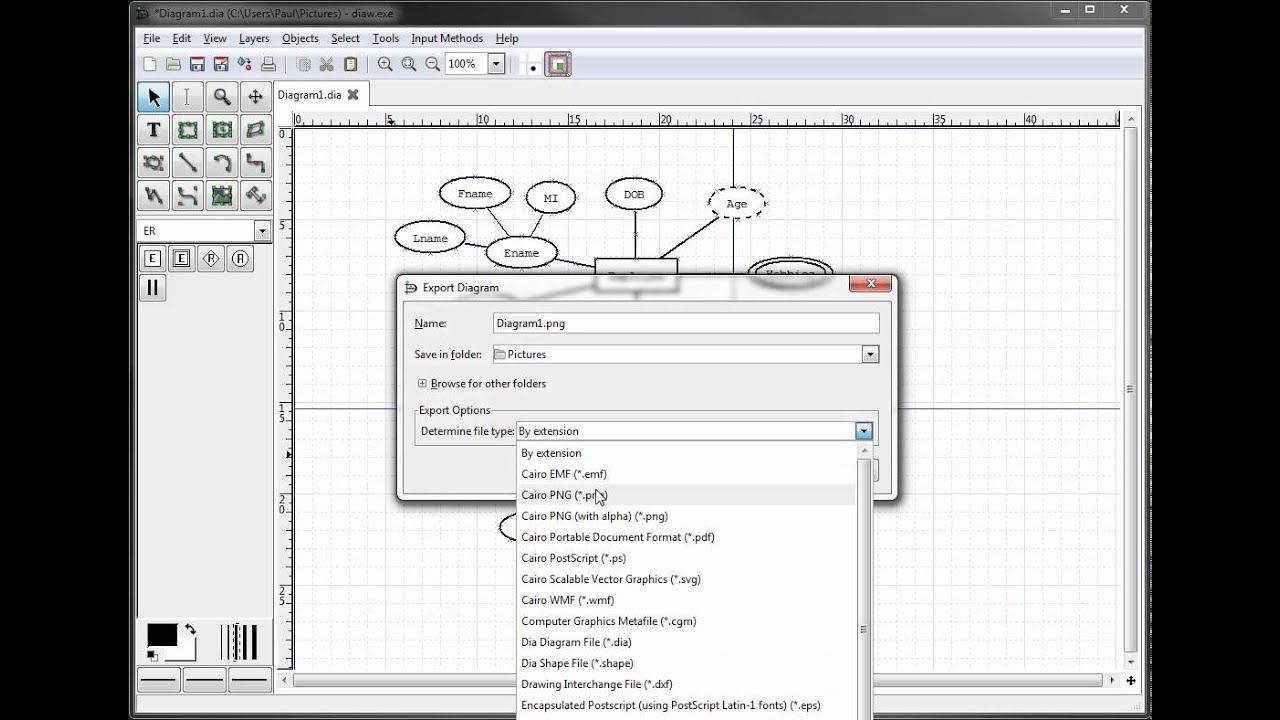 Er Diagrams In Dia - Exporting Your Diagram with regard to Er Diagram Pdf
