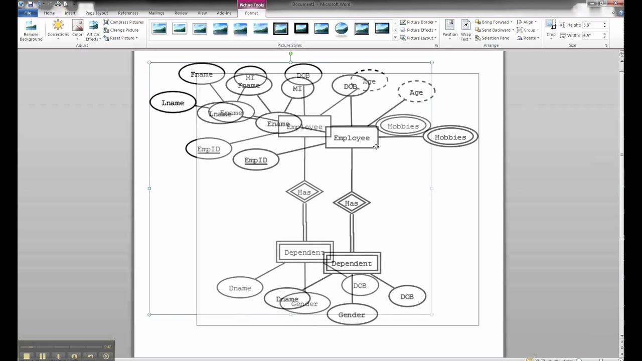 Er Diagrams In Dia - Importing Er Diagram Into Ms Word intended for Er Diagram In Word 2010