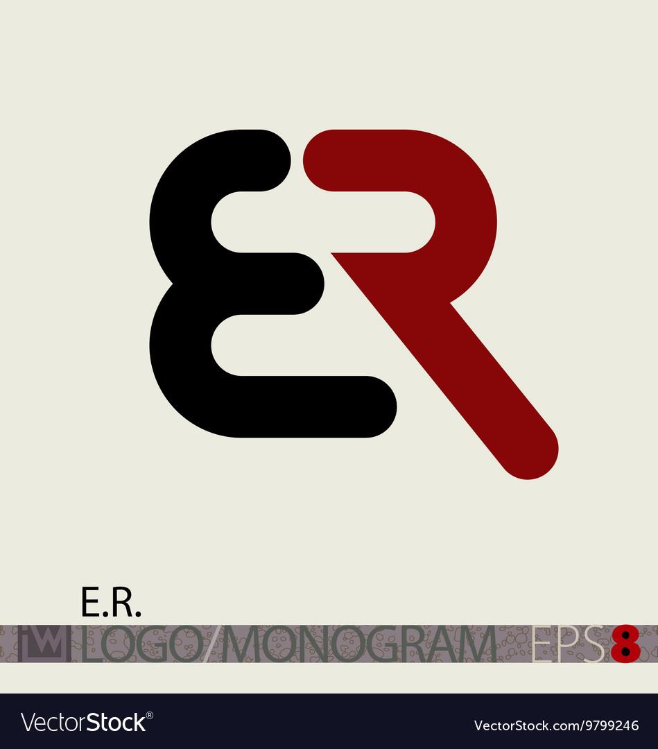 Er Logo Monogram with Er Symbol