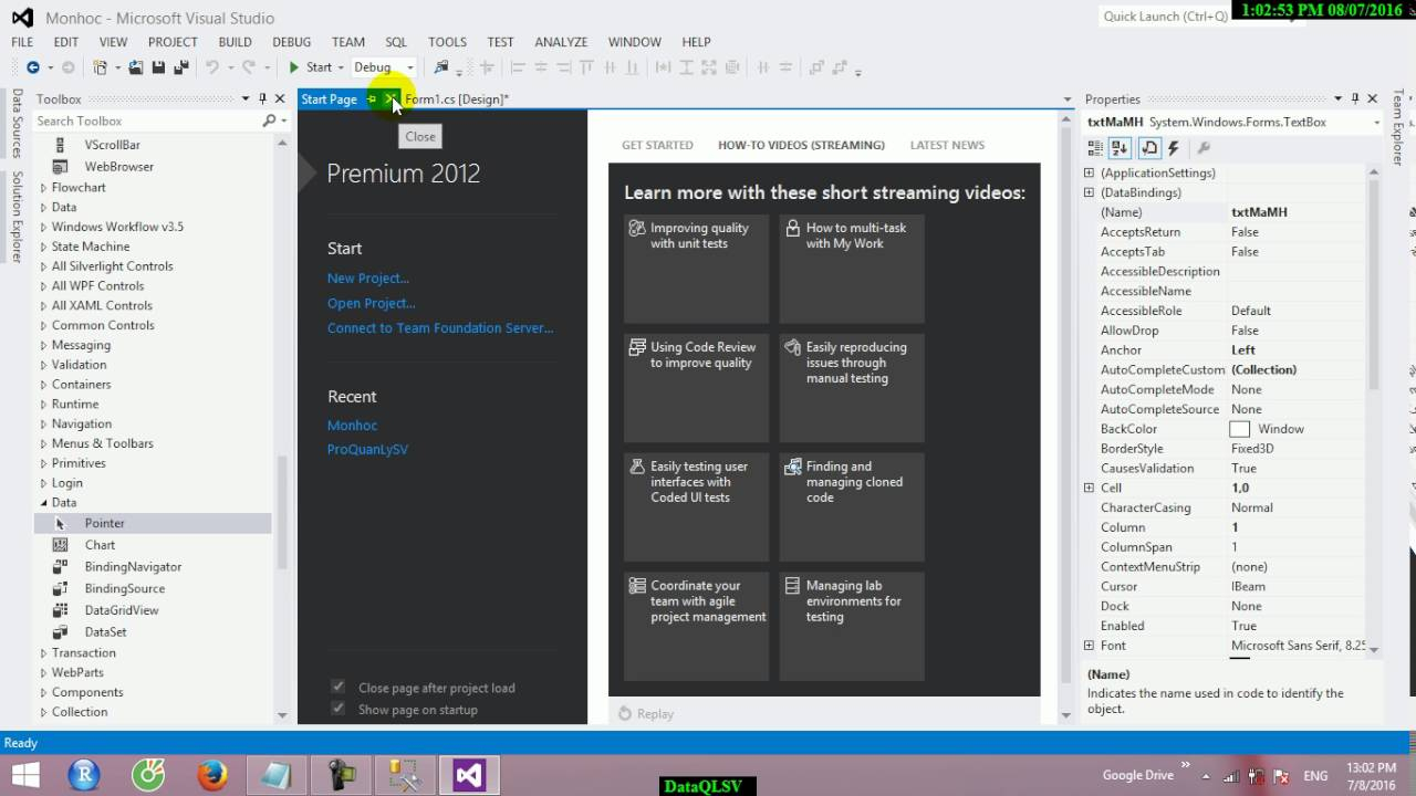 Erd To Visual Studio 2012 With Application Window Form within Er Diagram Visual Studio 2015