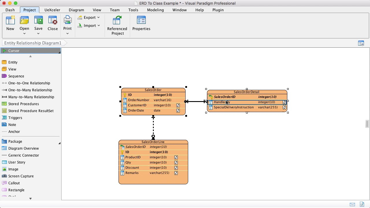 From Erd To Class Diagram - Multiple Tables Map To One Class within One To Many Relationship Diagram