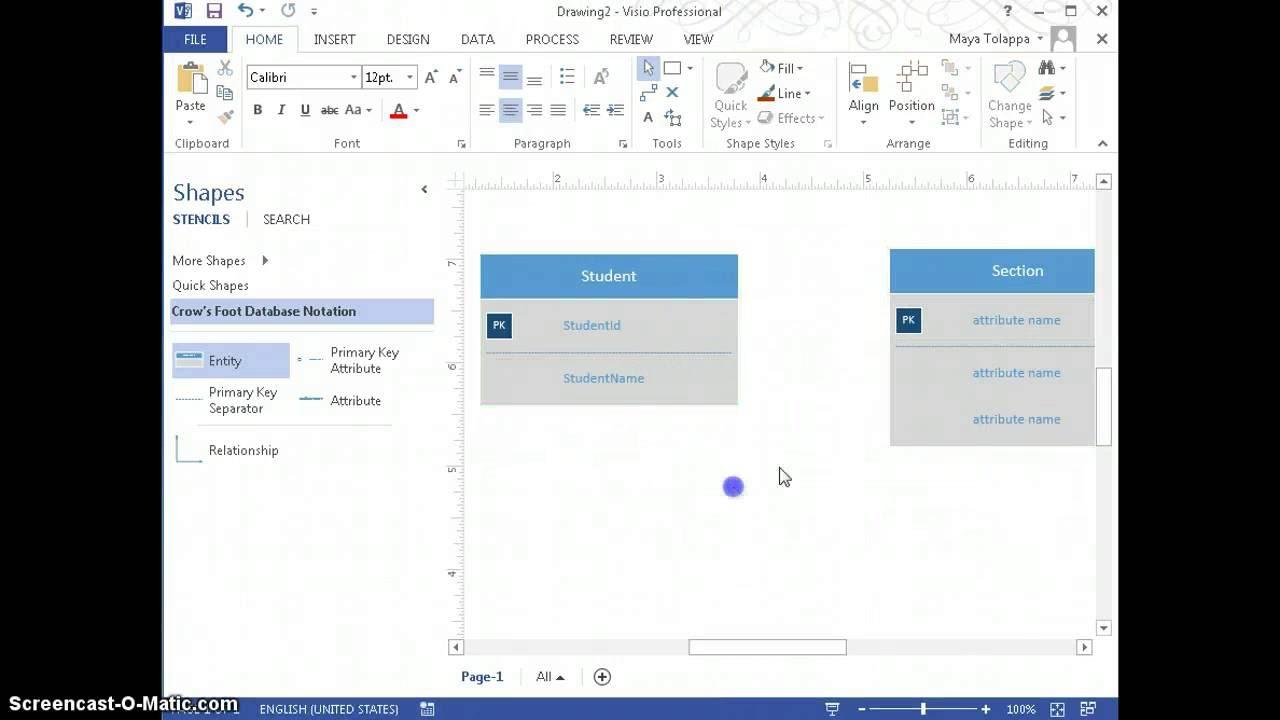 How To Create Er Diagramusing Visio 2013 inside Er Diagram Visio
