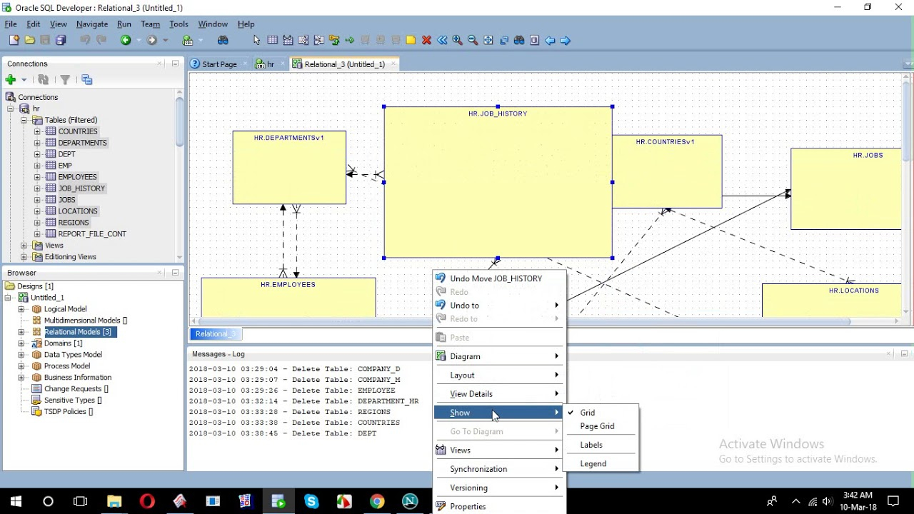 How To Create Erd From Sql Developer for Sql Developer 4 Er Diagram