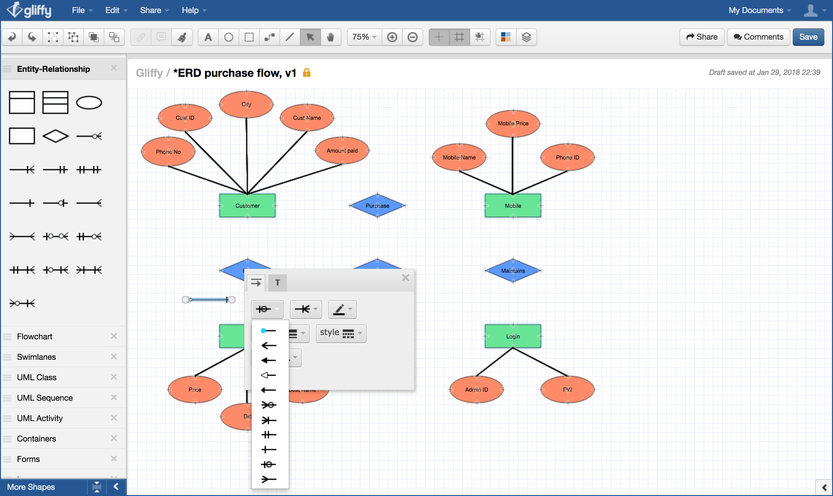 How To Draw An Entity-Relationship Diagram inside Entity Relationship Symbols
